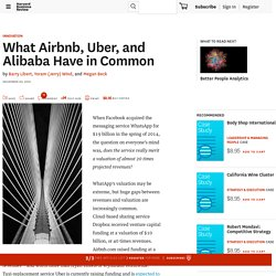 What Airbnb, Uber, and Alibaba Have in Common