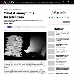 What if Anonymous targeted you? - Hacking