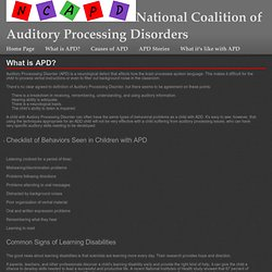 What is APD?