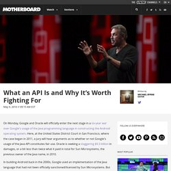 What an API Is and Why It's Worth Fighting For