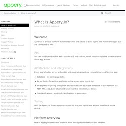 What is Appery.io?