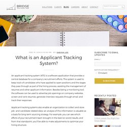 What is an Applicant Tracking System?