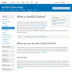 What is ArcGIS Online?—ArcGIS Online Help