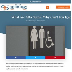 What are ADA Signs? Why Can't You Ignore Them?