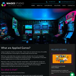 What are Applied Games?