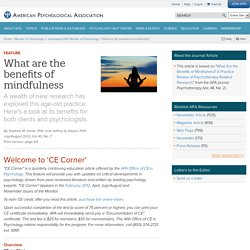 What are the benefits of mindfulness?