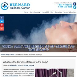What Are the Benefits of Ozone to the Body?
