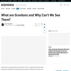 What are Gravitons and Why Can't We See Them?