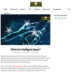 What are Intelligent Apps?