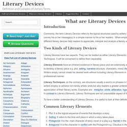 What are Literary Devices