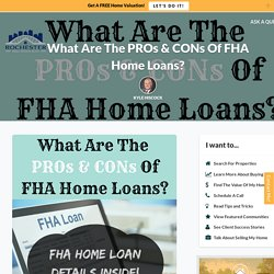FHA Loans: What Are The Pros And Cons?