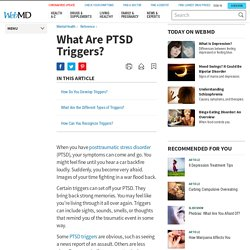 What Are PTSD Triggers?