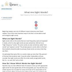 What Are Sight Words?
