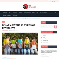 What Are the 13 Types of Literacy?