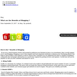What are the Benefits of Blogging ?
