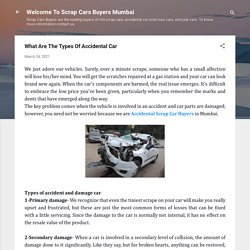 What Are The Types Of Accidental Car