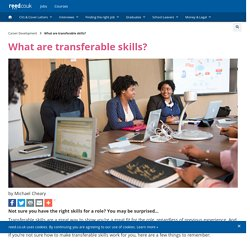 REED: What are transferable skills?