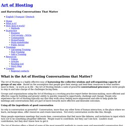 What is the Art of Hosting? « Art of Hosting