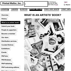 What Is An Artists Book - Printed Matter