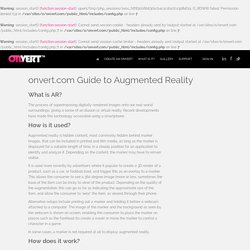 What is Augmented Reality?