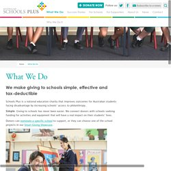 What We Do - Australian Schools Plus