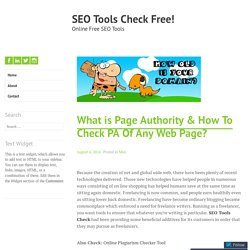 What is Page Authority & How To Check PA Of Any Web Page? – SEO Tools Check Free!