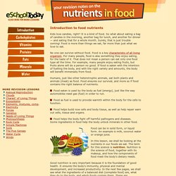 What is a balanced diet made up of? What nutrients are there in good food?