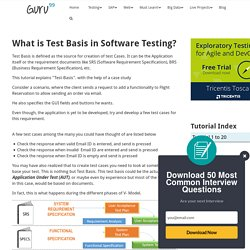 What is Test Basis in Software Testing?