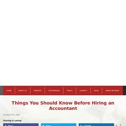 Things You Should Know Before Hiring an Accountant