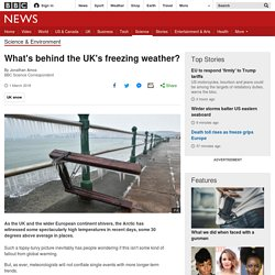 What's behind the UK's freezing weather?