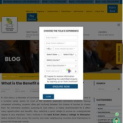 What is the Benefit of B.Com (Hons.) Degree?