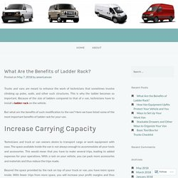 What Are the Benefits of Ladder Rack? – American Van