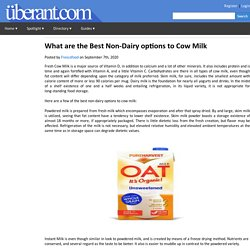 What are the Best Non-Dairy options to Cow Milk