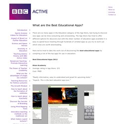 What are the Best Educational Apps?
