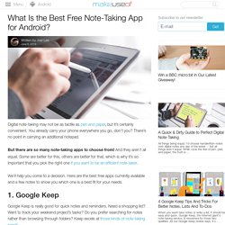 What Is the Best Free Note-Taking App for Android?
