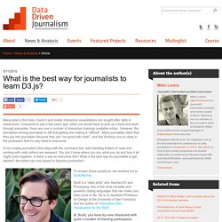 What is the best way for journalists to learn D3.js?