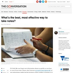 Study skills: What's the best, most effective way to take notes?