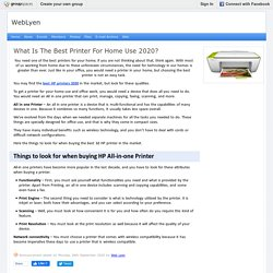 What Is The Best Printer For Home Use 2020? : WebLyen