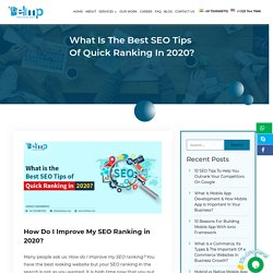 What Is The Best SEO Tips Of Quick Ranking In 2020? Local SEO Tips
