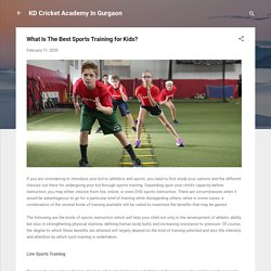 What Is The Best Sports Training for Kids?