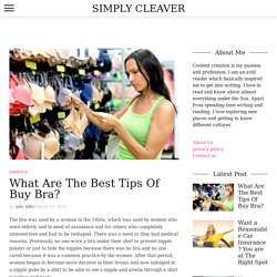 What Are The Best Tips Of Buy Bra? - Simply Cleaver