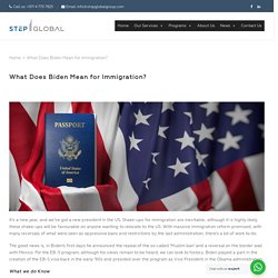 What Does Biden Mean for Immigration