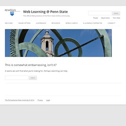 What is Blended Learning? — Web Learning @ Penn State