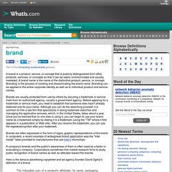 What is brand? - Definition from WhatIs.com