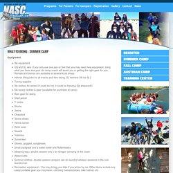 Ski Camp Packing List