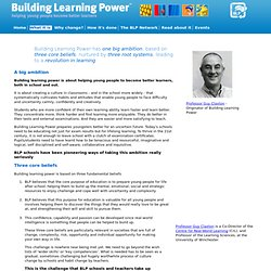 What it is - Building Learning Power