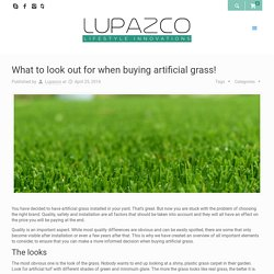 What to look out for when buying artificial grass!