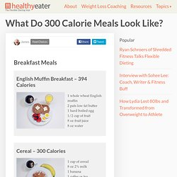 What Do 300 Calorie Meals Look Like?