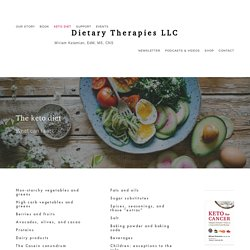 What Can I Eat? — Dietary Therapies LLC