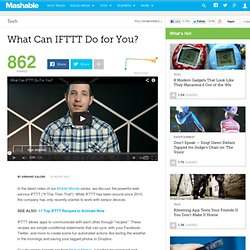 What Can IFTTT Do for You?